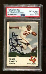 Abner Haynes Signed 1961 Fleer #203 Autographed Dallas Texans PSA/DNA