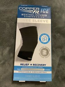 """Copper Fit ICE Menthol Infused Compression Knee Sleeve 