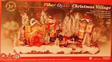 PULEO FIBER OPTIC CHRISTMAS VILLAGE (LAST ONE OF THESE SOLD FOR $160.00)