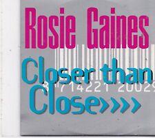 Rosie Gaines-Closer Than Close cd single