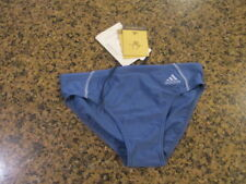 Adidas Men 25 Blue Competitive Training Swim suit Briefs NWT New Jabal Trunk boy