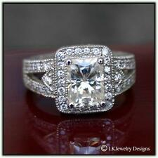 3.32 CT MOISSANITE RADIANT FOREVER ONE GHI ENGAGEMENT RING