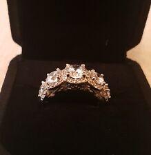 5 Stone halo ring size j.5