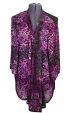 Maggie Barnes Catherine's 1X 18/20, S/S Open Cardigan Kimono Purple Asymmetric