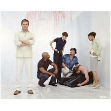 Dexter forensic team cast at murder scene with victim 8 x 10 Inch Photo