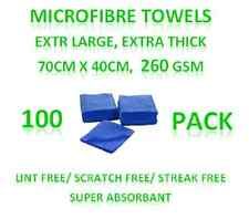 New 100 Microfibre Towels - Extra Large Thick Cleaning Cloths 70cm x 40cm 260GSM