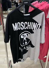 NWT Moschino Couture T Shirt 100% Cotton In Black Grey Size M 100% Cotton Unisex
