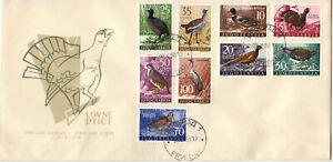 YUGOSLAVIA:  Birds, Year 1958, Full Set; FDC