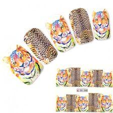 Tattoo Nail Art Tiger Tigermuster Afrika Wildnis Aufkleber Nagel Sticker