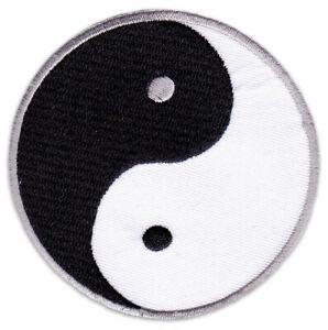 Yin & Yang Symbol Judo Yoga Goa Psy Ying und Om Aufnäher Aufbügler Patch Sticker