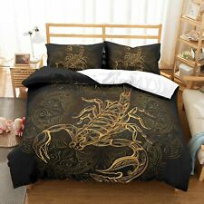 Dark Golden Scorpio Bedding Set Duvet Cover Comforter Cover Pillow Case