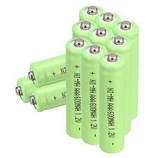 12 Pcs AAA 3A 1.2 V 600mAh NI-MH Rechargeable Battery Green