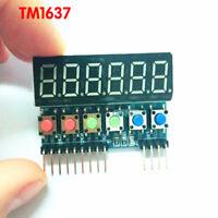 Digital TM1637 6-Bits Tube Display Key Scan Module IIC interface For Arduino