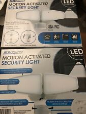 NEW 2X Sunforce Motion Activated LED Bright White Security Light (2500 Lumens)