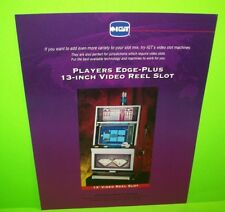 "IGT Players Edge 13"" Video Reel Slot Machine Flyer Casino Game Double Diamond"
