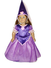 "Purple Princess 18"" Doll Clothes Fit American Girl  Gown Hat Shoes"