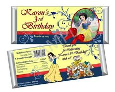 Snow White Candy Bar Wrappers - Party Birthday Favors Set of 12