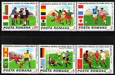 Romania 1986 Sc3367-72 Mi4260-65 6v mnh 1986 World Cup Soccer Championships