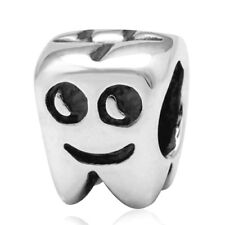 TOOTH Charm Bead 925 Sterling Silver