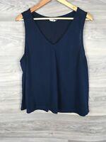 TU Navy Blue Jumper Vest Ladies Size 20 1775
