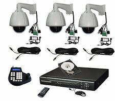 "3x 7"" 264x zoom Hi-Speed PTZ Camera + Keyboard Controller + 4ch DVR System kit"