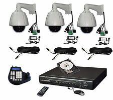 "3x 7"" 264x zoom Hi-Speed PTZ Camera + Keyboard Controller + 4ch DVR System kit"