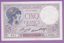 (Ref: J.691)  5 FRANCS VIOLET 13/07/1933 (NEUF) 10 BILLETS NUMÉRO SUIVI