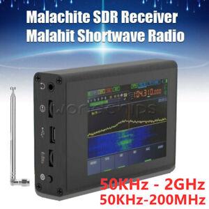 50KHz-200MHz 50KHz-2GHz Malachite IPS DSP SDR Shortwave Radio Receiver + Antenna