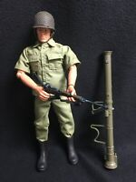 "WWII US ARMY Bazooka Gunner GI JOE by Hasbro 12"" Inch 1:6 Scale Action Figure"