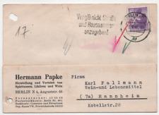 """Berlin 1946 MiNr. 2 Postkarte Werbestempel """"Straße und Hausnummer"""""""