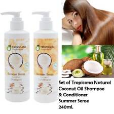 Set of Tropicana Natural Coconut Oil Shampoo & Conditioner Summer Sense 240ml.