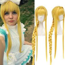 Sword Art Online Alicization Alice Long Braid Ponytail Golden Blonde Cosplay Wig