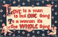 Arts Crafts Love Saying Cupid Sheahan postcard 11382
