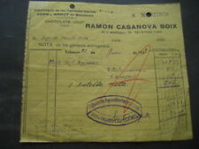 FACTURA ALBARAN CERVEZAS DAMM - MORITZ. RAMON CASANOVA BOIX. BARCELONA 1935