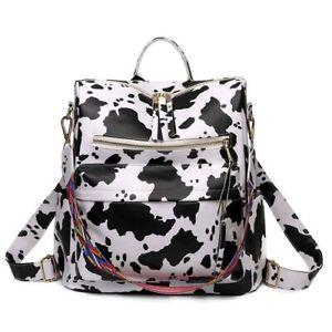 Cow print guitar trap backpack purses ladies bags