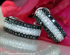 Klassische Brillanten Ohrstecker mit schwarzen Diamanten 0.96 ct. WG585 2230,--