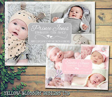 10 New Baby Boy Girl Birth Announcement Thank You Messages Multiple Photos Cute