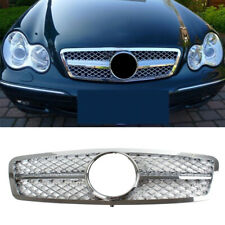 AMG Style Grille Chrome For Mercedes Benz C class C63 C230 C240 C280 W203 01-07