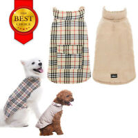 Warm Cream Dog Pet Jacket Waterproof Double-Side Sweater For Small Puppy Dog