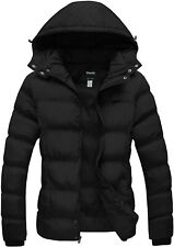 Wantdo Women's Hooded Warm Winter Coat Quilted Thicken Puffer Jacket with Remova
