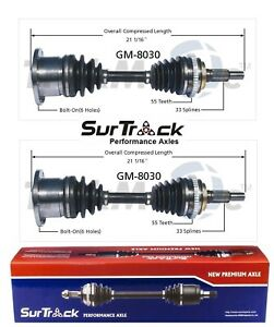 For Chevrolet Blazer GMC Yukon K1500 Suburban 4WD Pair Front CV Axle Shafts Set