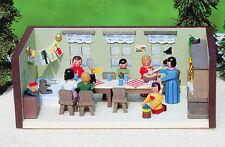 Miniatur Stube Kindergarten Handwerkskunst aus dem Erzgebirge