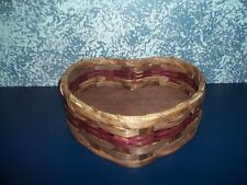 Amish Hand Woven Heart Basket