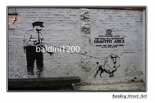 "BANKSY STREET ART ""POLICE POODLE"" - LARGE PHOTO LOOKS GREAT FRAMED -"