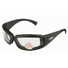 Clear PADDED Motorcycle Riding Glasses Sunglasses Anti Fog Biker goggles Moped