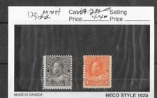 CANADA GEORGE V SCOTT 120 AND 122 MNH HIGH VALUES.