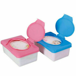 Removable 80-Sheet Wet Wipes Storage Case Box Refillable Container Household Kit