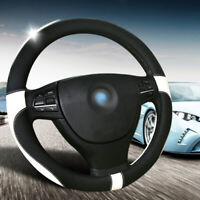 Steering Wheel Cover 38cm black and white steering wheel cover Glove Soft UK