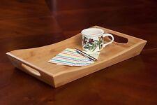 Trays Bamboo Serving Tray w/ Handles: Decorative rectangular ottoman tray