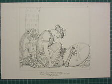 1880 PRINT JOHN FLAXMAN AESCHYLUS MYTHOLOGY ~ THE PERSIANS ASIA ON KNEES